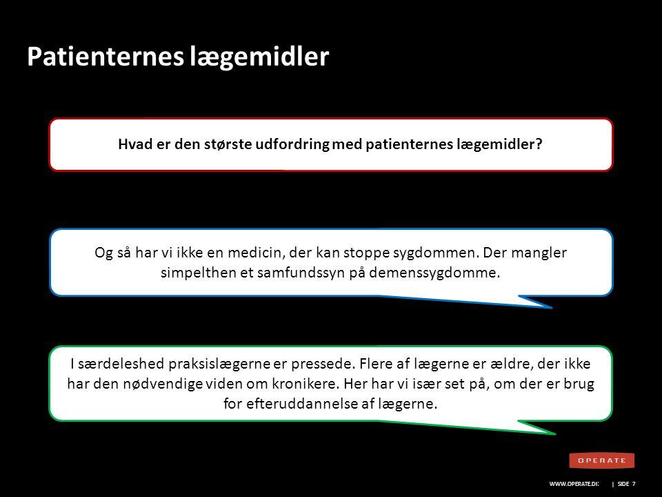 WWW.OPERATE.DK Blankt sort layout WWW.OPERATE.DK | SIDE 18 Lægemiddelvirksomhedernes rolle Hvor stort er potentialet for mere samarbejde.
