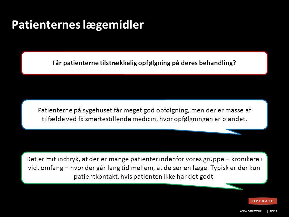 WWW.OPERATE.DK Blankt sort layout WWW.OPERATE.DK | SIDE 9 Patienternes lægemidler Hvem har ansvaret for patienternes compliance.