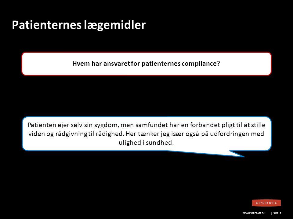 WWW.OPERATE.DK Blankt sort layout WWW.OPERATE.DK | SIDE 20 Lægemiddelvirksomhedernes rolle Hvorfor vil nogle patientforeninger ikke samarbejde med lægemiddelvirksomhederne.