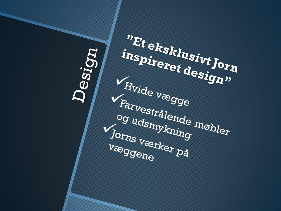 Design Et eksklusivt Jorn inspireret design   Hvide vægge   Farvestrålende møbler og udsmykning   Jorns værker på væggene