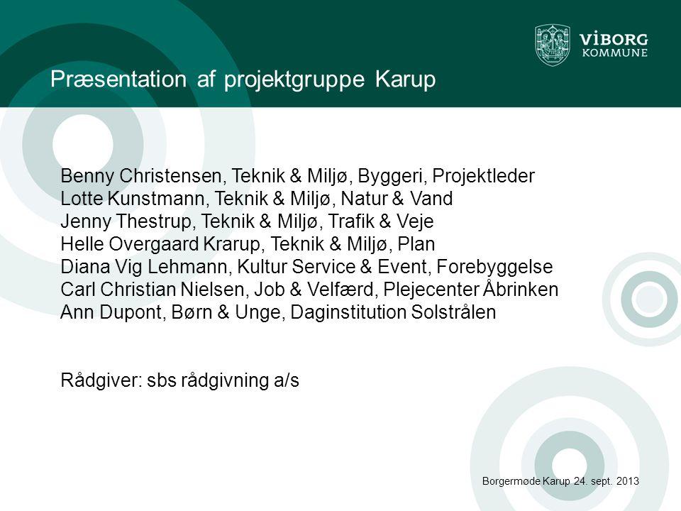 Opfølgning på gruppearbejde Borgermøde Karup 24.sept.