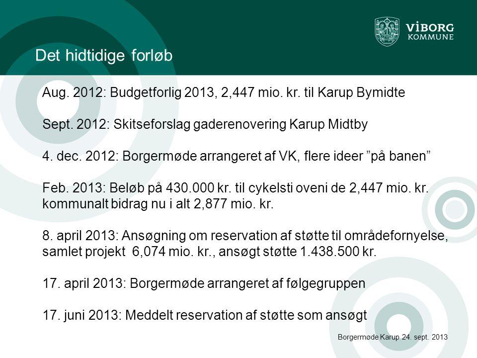 Eventuelt Borgermøde Karup 24. sept. 2013 ?