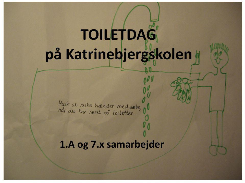 Bagefter lavede 1.a forskellige ting i grupper sammen med dem fra 7.x En gruppe satte skydeskive i nogle toiletter, for at få drengene til at ramme i toiletkummen.