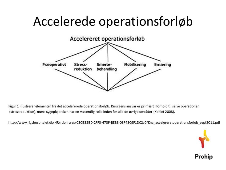 • Postoperativt tillades almindelig kost fra operationsdagen, hvilket ikke giver anledning til problemer (Lewis 2009).