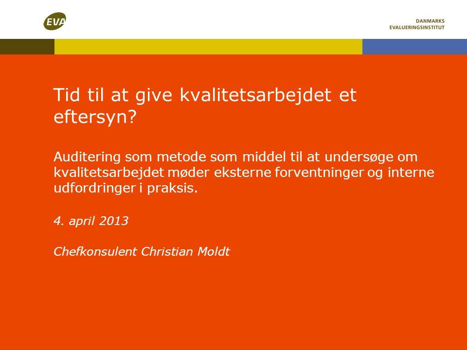 Institutionsakkreditering indføres i Danmark 1.7.2013 (forudsat loven vedtages) • Vil betyde at videregående uddannelsesinstitutioner bliver selvakkrediterende , dvs.
