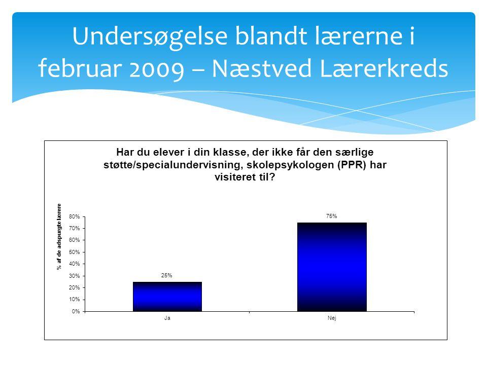 Undersøgelse blandt lærerne i februar 2009 – Næstved Lærerkreds
