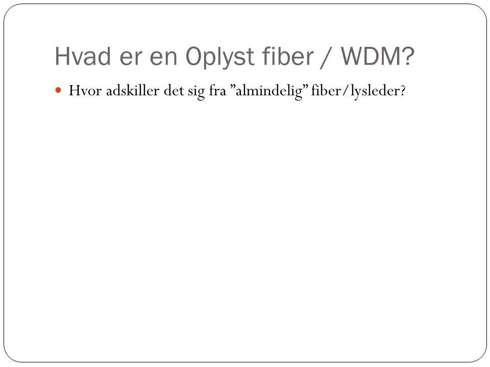 Hvad er en Oplyst fiber / WDM  Hvor adskiller det sig fra almindelig fiber/lysleder