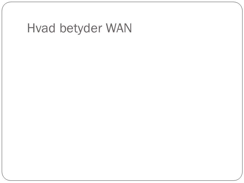 Hvad betyder WAN