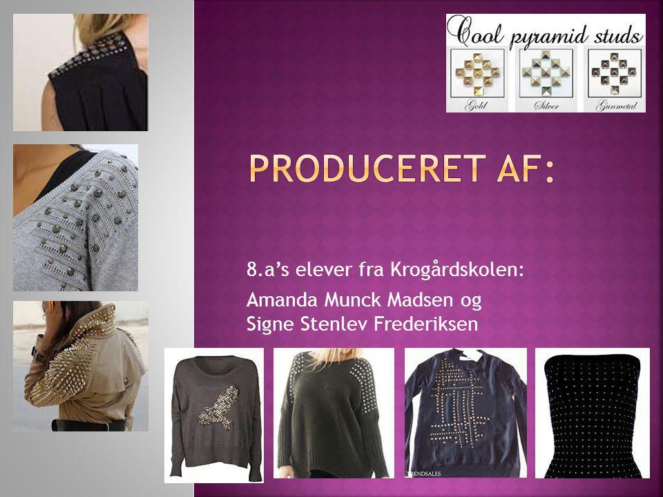 8.a's elever fra Krogårdskolen: Amanda Munck Madsen og Signe Stenlev Frederiksen