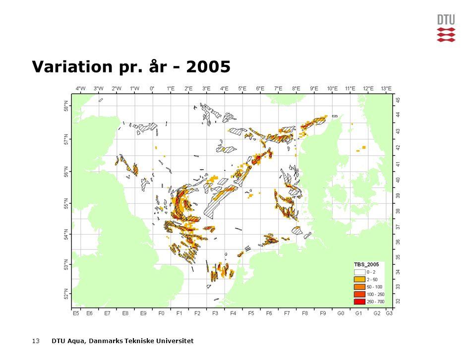 13DTU Aqua, Danmarks Tekniske Universitet Variation pr. år - 2005