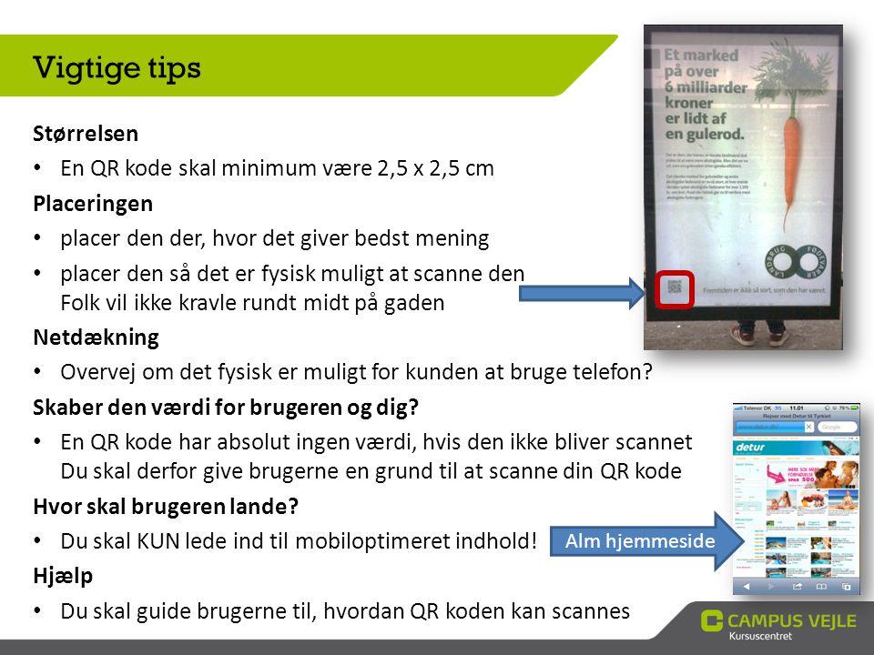 Godt eksempler: Lille vejledning i hvordan det gøres Alternativ til folk uden mobiltelefon Grund til at Scanne (Rabat)