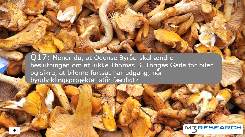 Q17 : Mener du, at Odense Byråd skal ændre beslutningen om at lukke Thomas B.