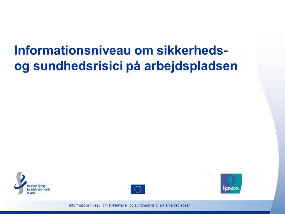 Informationsniveau om sikkerheds- og sundhedsrisici på arbejdspladsen