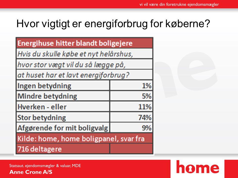 Hvor vigtigt er energiforbrug for køberne?