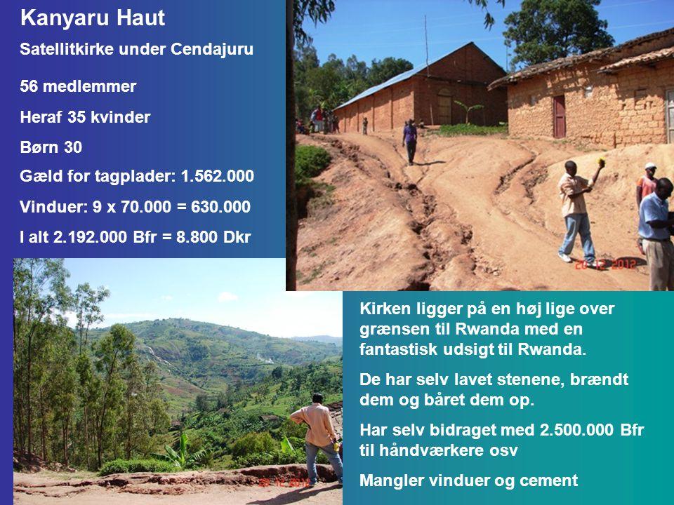 Kanyaru Haut Kirken ligger på en høj lige over grænsen til Rwanda med en fantastisk udsigt til Rwanda.
