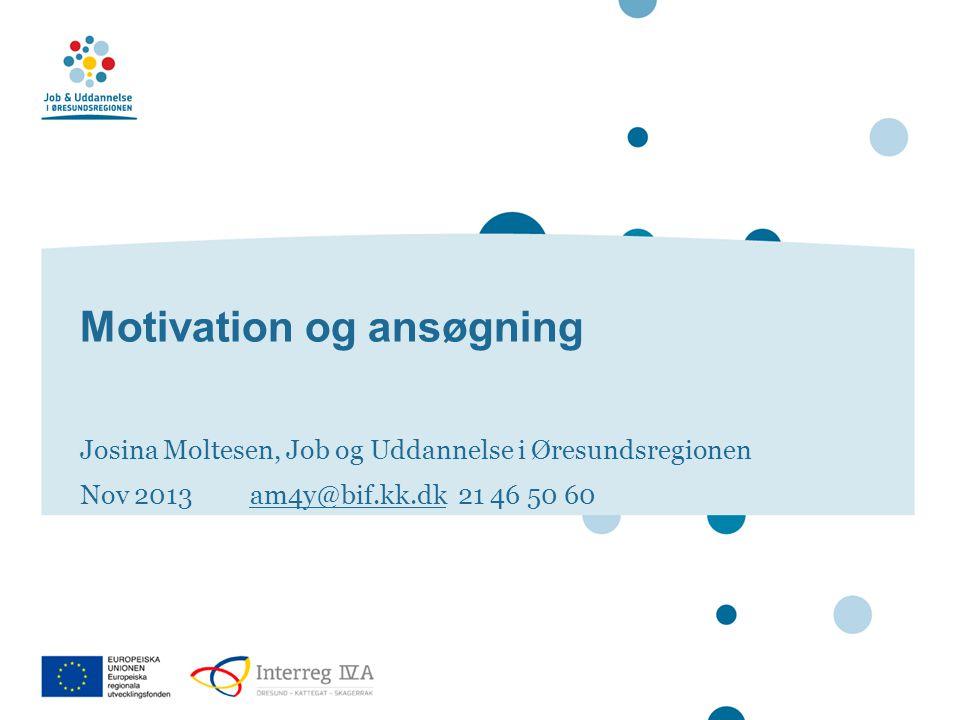 Disposition DEL 1 Barrierer og motivation DEL 2 Jobsøgning i Sverige: Hvor og hvordan