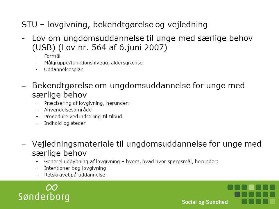 STU Sønderborg Styregruppe (ledere + VUC) Overordnet planlægning Eks.