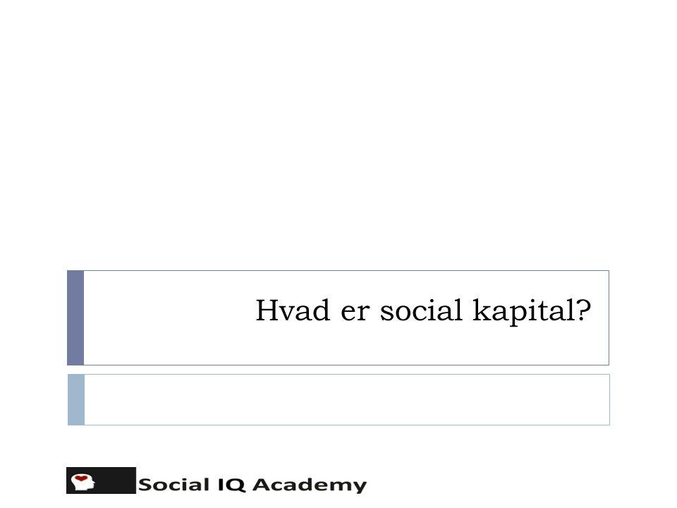 Hvad er social kapital i virksomheden.