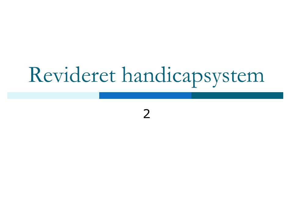Revideret handicapsystem 2