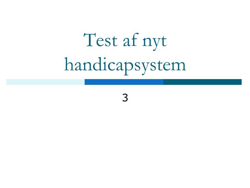 Test af nyt handicapsystem 3