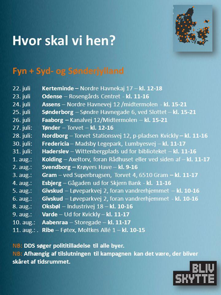 Fyn + Syd- og Sønderjylland 22. juliKerteminde – Nordre Havnekaj 17 – kl.