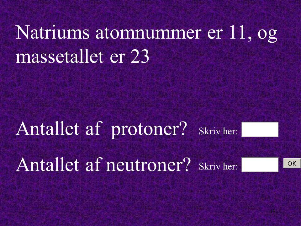 48 Hele atomet skal jo altid være elektrisk neutralt.