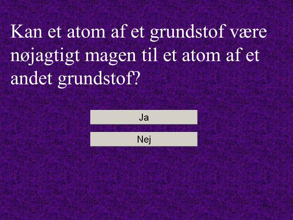 52 Kan et magnesium-atom være nøjagtigt magen til et svovl- atom?