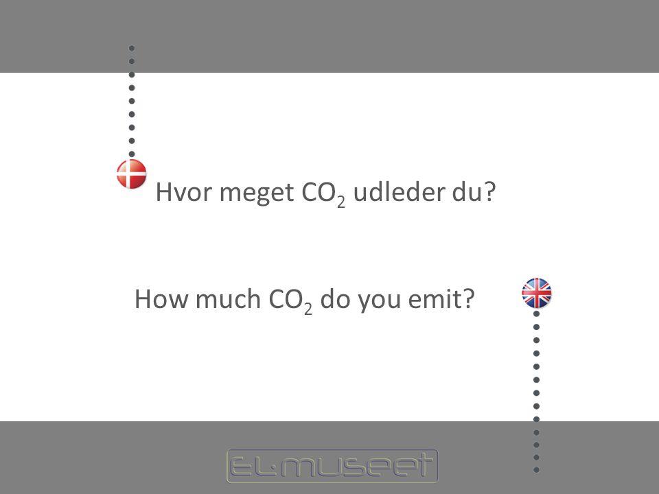 Hvor meget CO 2 udleder du How much CO 2 do you emit