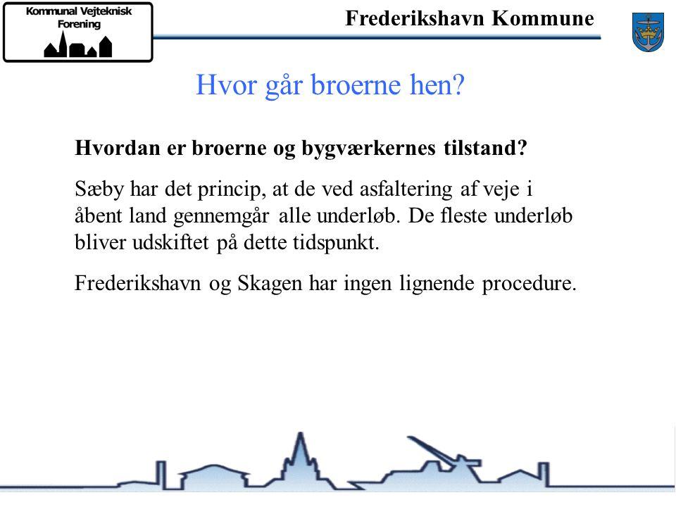Frederikshavn Kommune Hvor går broerne hen. Hvordan er broerne og bygværkernes tilstand.
