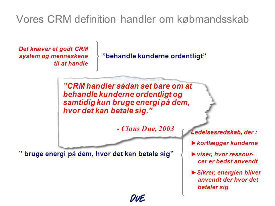 Loyalitets Ledelse Ledelsen er underforsynet med ledelsesværktøjer En udfordring at klare det hele Anerkendte ERP systemer Anerkendte CRM systemer KONTINEO CRMmatrix ®