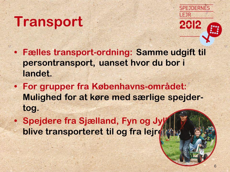 6 Transport •Fælles transport-ordning: Samme udgift til persontransport, uanset hvor du bor i landet.