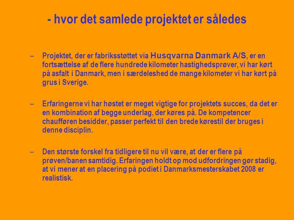 så velkommen til… det nye team i Dansk Motorsport 2008: # 516 Husqvarna Racing Denmark