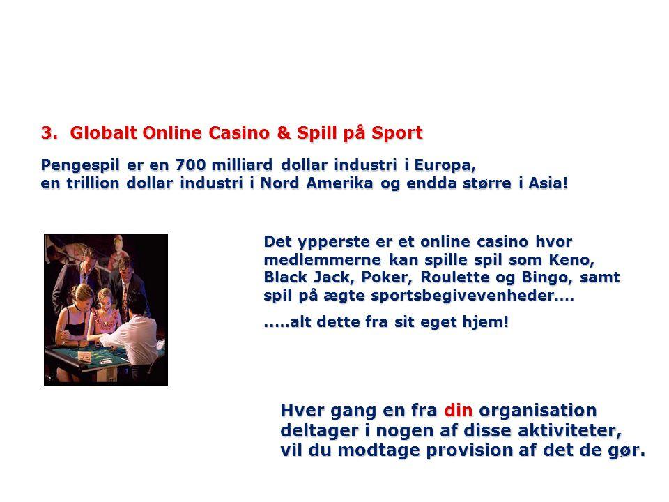 3. Globalt Online Casino & Spill på Sport Pengespil er en 700 milliard dollar industri i Europa, en trillion dollar industri i Nord Amerika og endda s