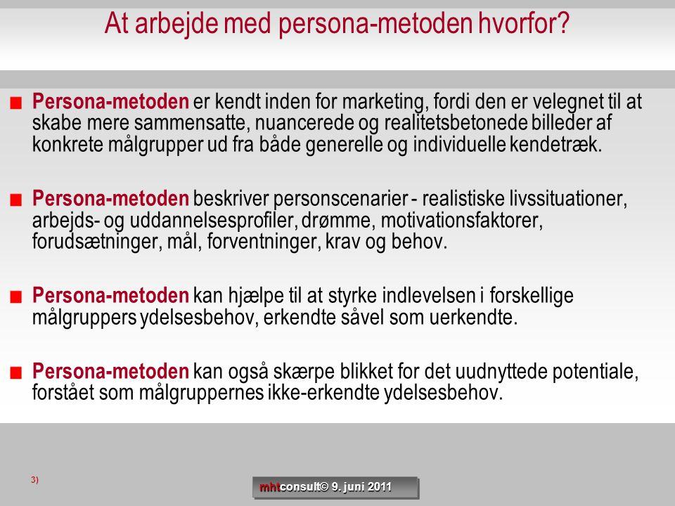 At arbejde med persona-metoden hvorfor? Persona-metoden er kendt inden for marketing, fordi den er velegnet til at skabe mere sammensatte, nuancerede
