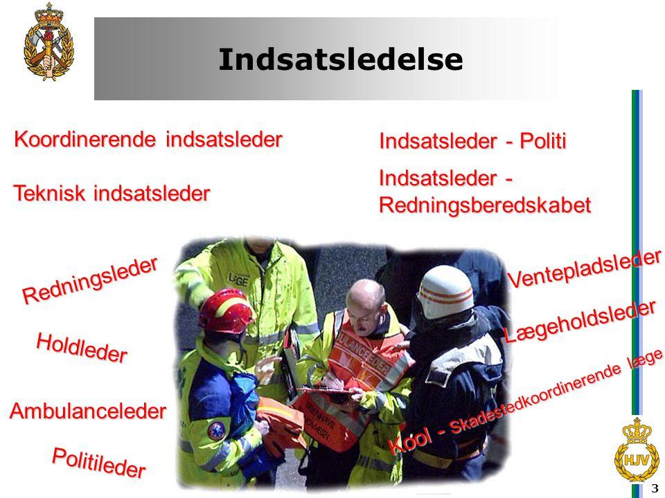 14 Ambulancevej •En af politiet fastlagt rute mellem indsatsområdet og et eller flere sygehuse.