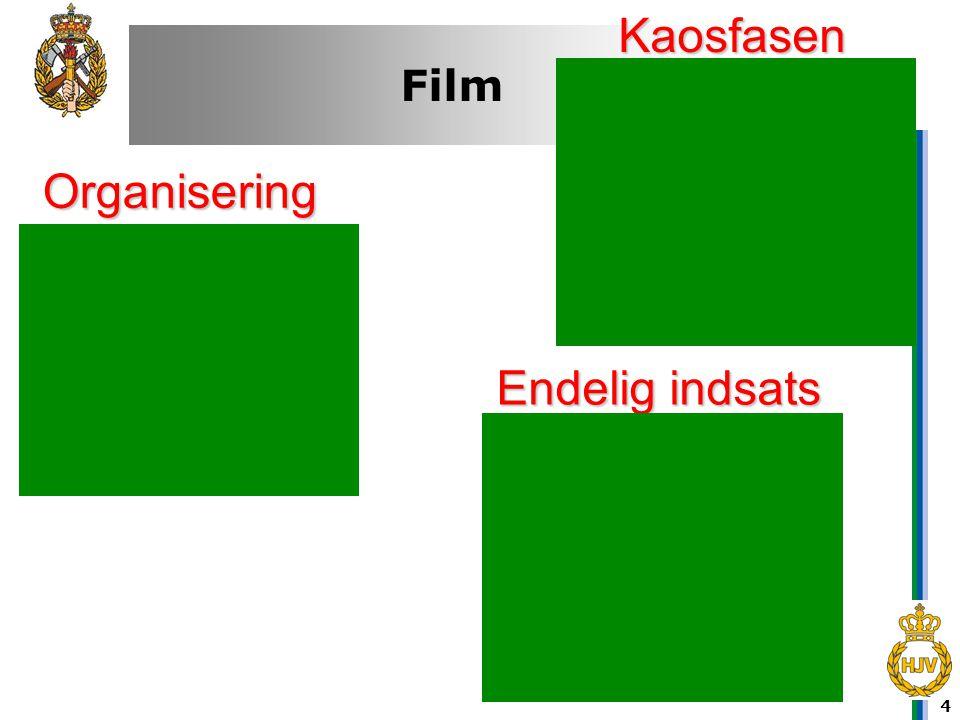 4 Film Kaosfasen Organisering Endelig indsats