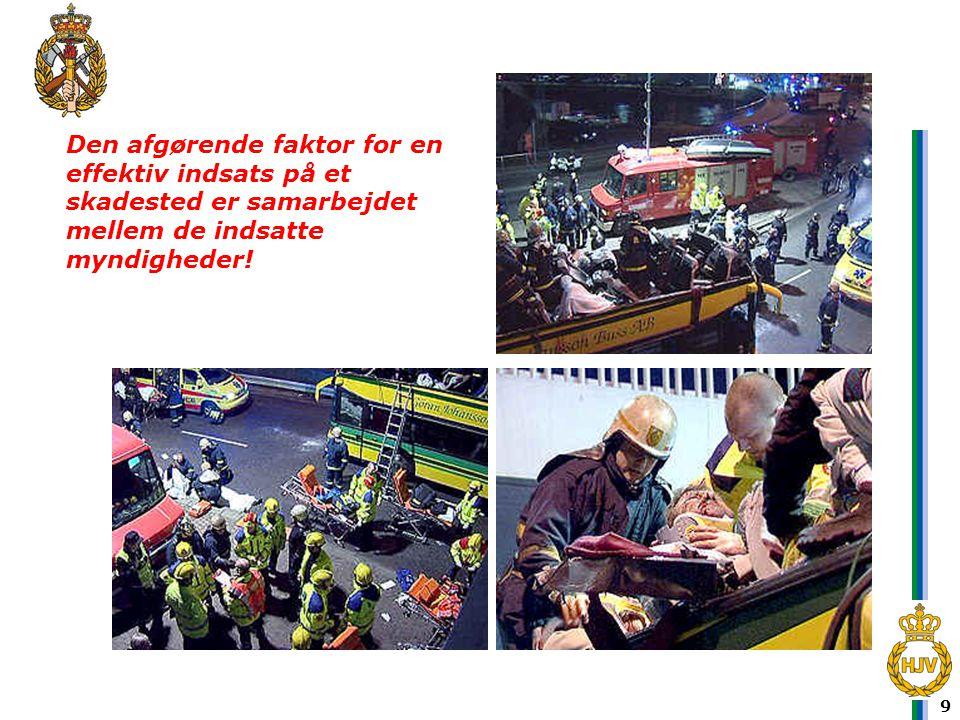 10 Indsatsleder-redningsberedskab •Den person fra redningsberedskabet, der varetager den tekniske og taktiske ledelse af indsatsen på et skadested og som har kommandoen redningsberedskabet.