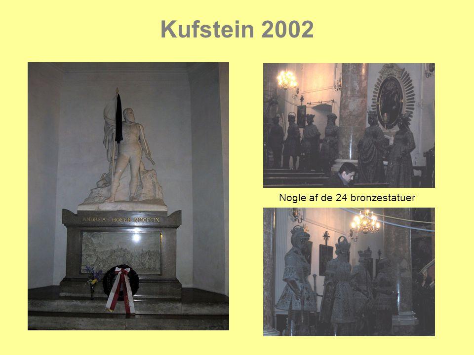Kufstein 2002 Nogle af de 24 bronzestatuer