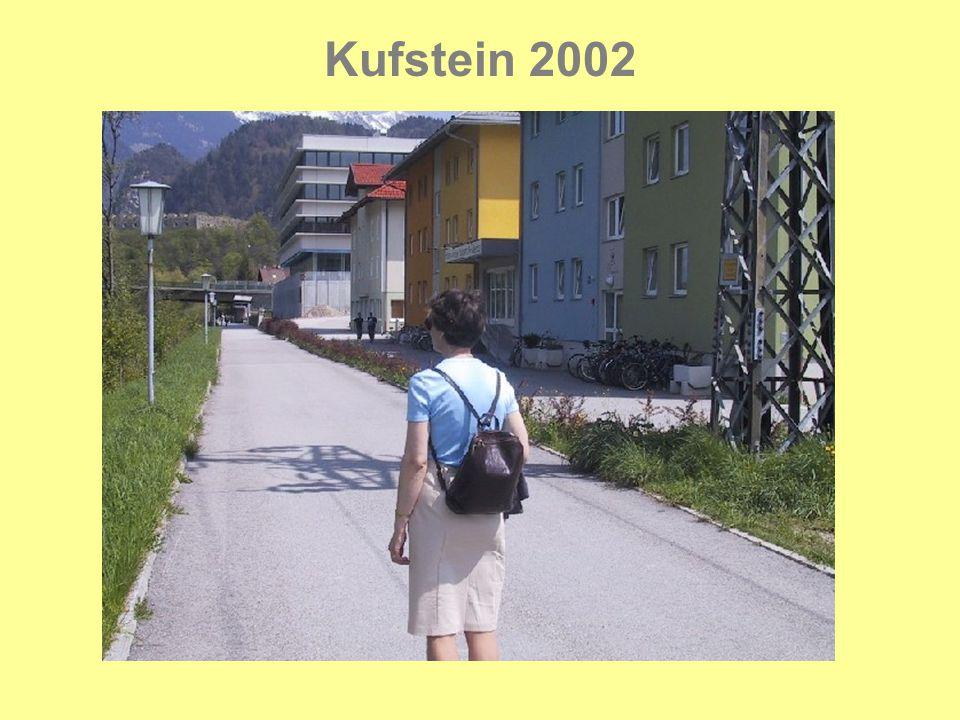 Kufstein 2002 Der var mange kønne steder og bygninger i Innsbruck.