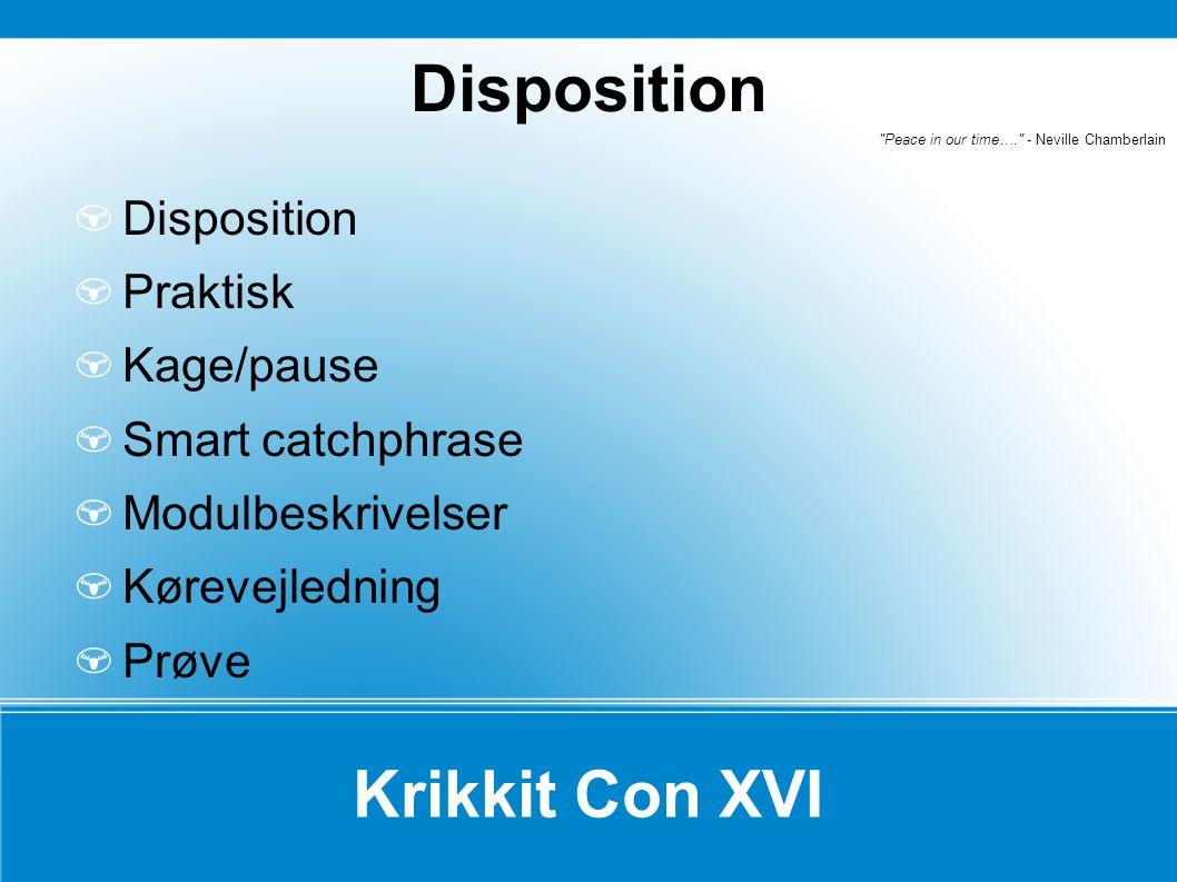 Krikkit Con XVI Indgang:75 kr.Morgenmad20 kr. (pr.