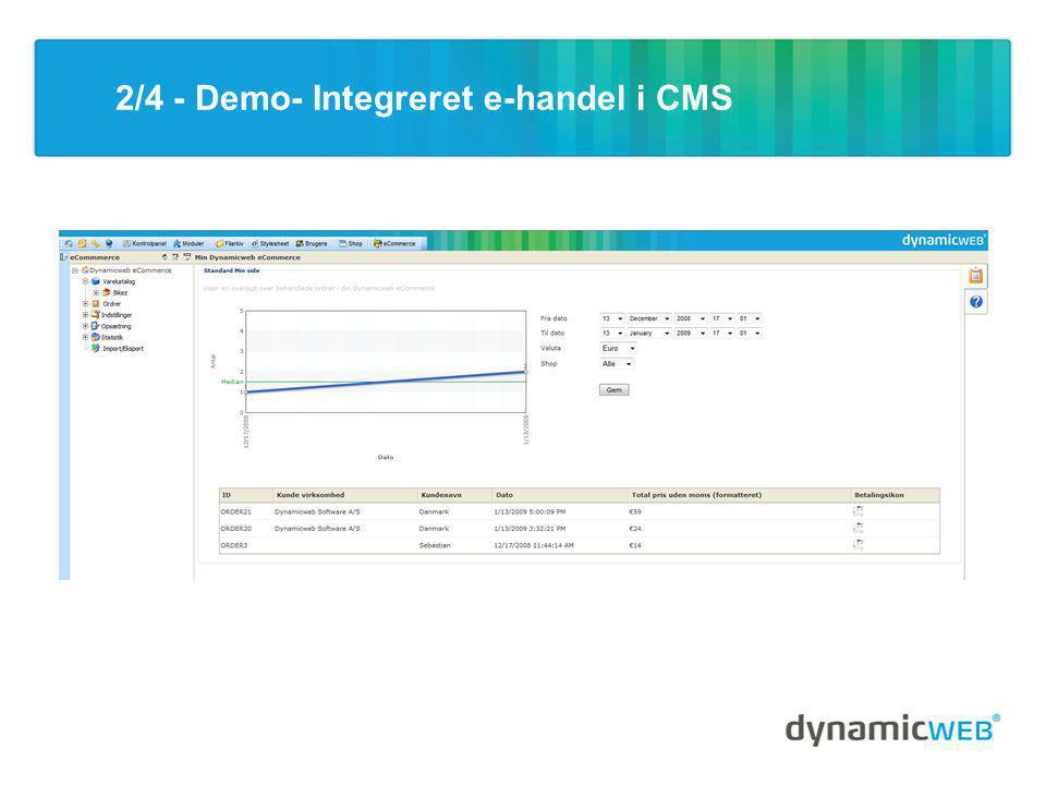 2/4 - Demo- Integreret e-handel i CMS