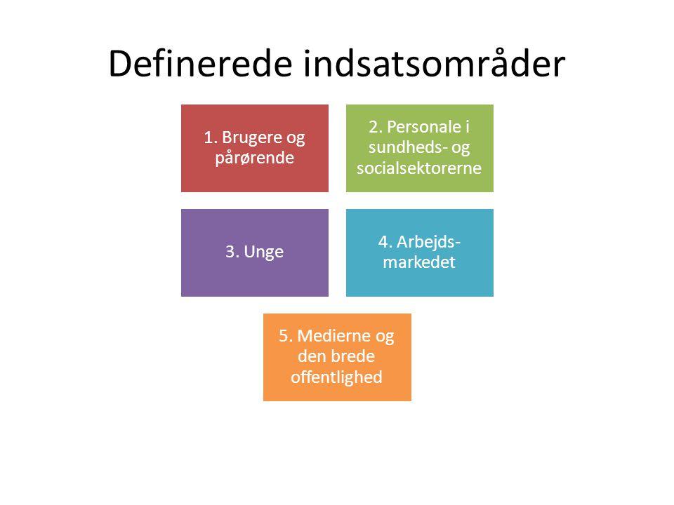 Definerede indsatsområder 1.Brugere og pårørende 2.