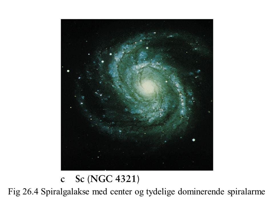 Fig 26.4 Spiralgalakse med center og tydelige dominerende spiralarme