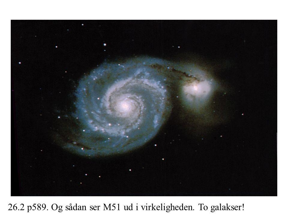 26.2 p589. Og sådan ser M51 ud i virkeligheden. To galakser!