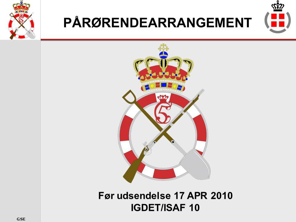 GSE Kontaktofficerer ved Ingeniørregimentet Følgende indgår som kontaktpersoner ved Ingeniørregimentet: Major Kim Rønne Kock Major Ole Ahlmann Hansen Kontorfuldmægtig Chalotte Sølvberg (Varetager også funktionen som Presseofficer) Seniorsergent Ole Harder