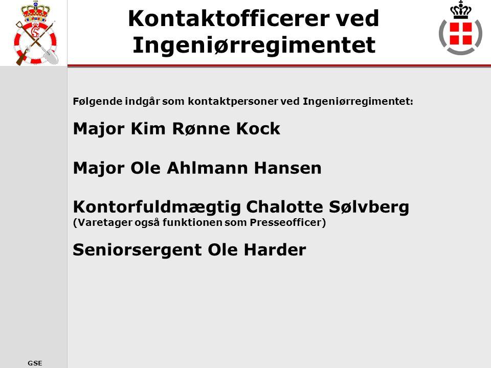 GSE Kontaktpersonordningen Formål •Yde støtte og hjælp, under og efter en evt.