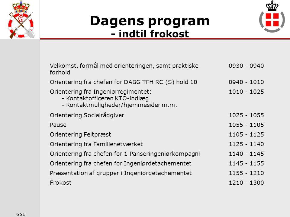 GSE PÅRØRENDEARRANGEMENT Før udsendelse 17 APR 2010 IGDET/ISAF 10