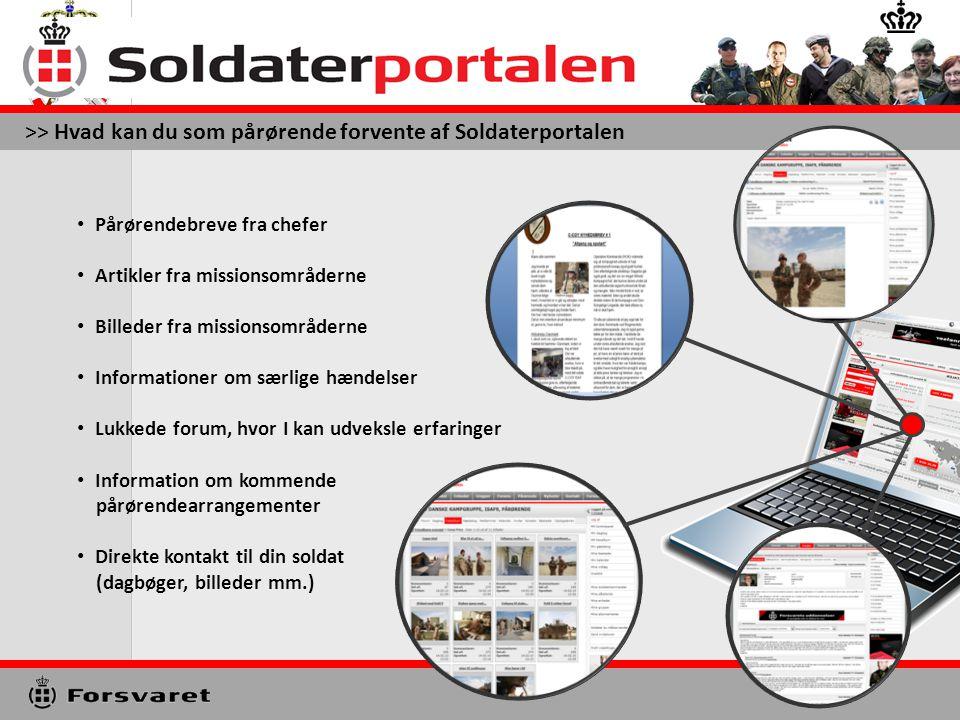 GSE Introduktion til www.Soldaterportalen.dk Soldaterportalen er det medie (værktøj), Hæren anvender til at informerer jer pårørende, før og mens jeres soldat er udsendt