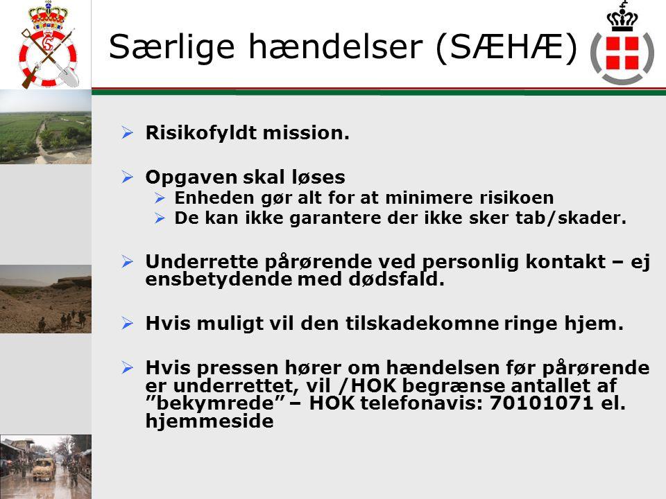 GSE Definitioner Kontaktperson Den eller de personer (max 2), som soldaten har meddelt at Forsvaret skal kontakte, hvis der sker tilskadekomst eller dødsfald, såvel nationalt som internationalt.