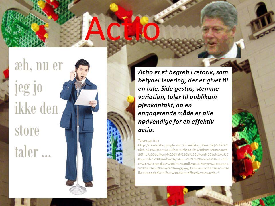 Actio Actio er et begreb i retorik, som betyder levering, der er givet til en tale.